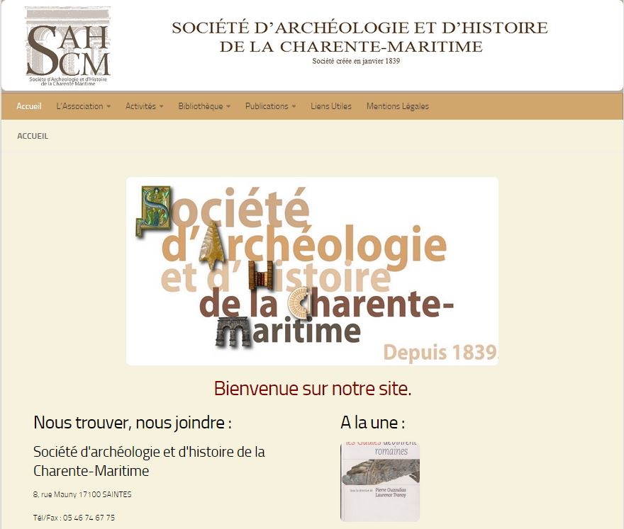 Site Archeologie Charente Maritime