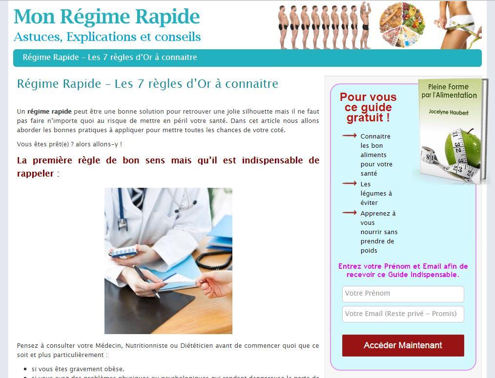 Site Mon Regime Rapide